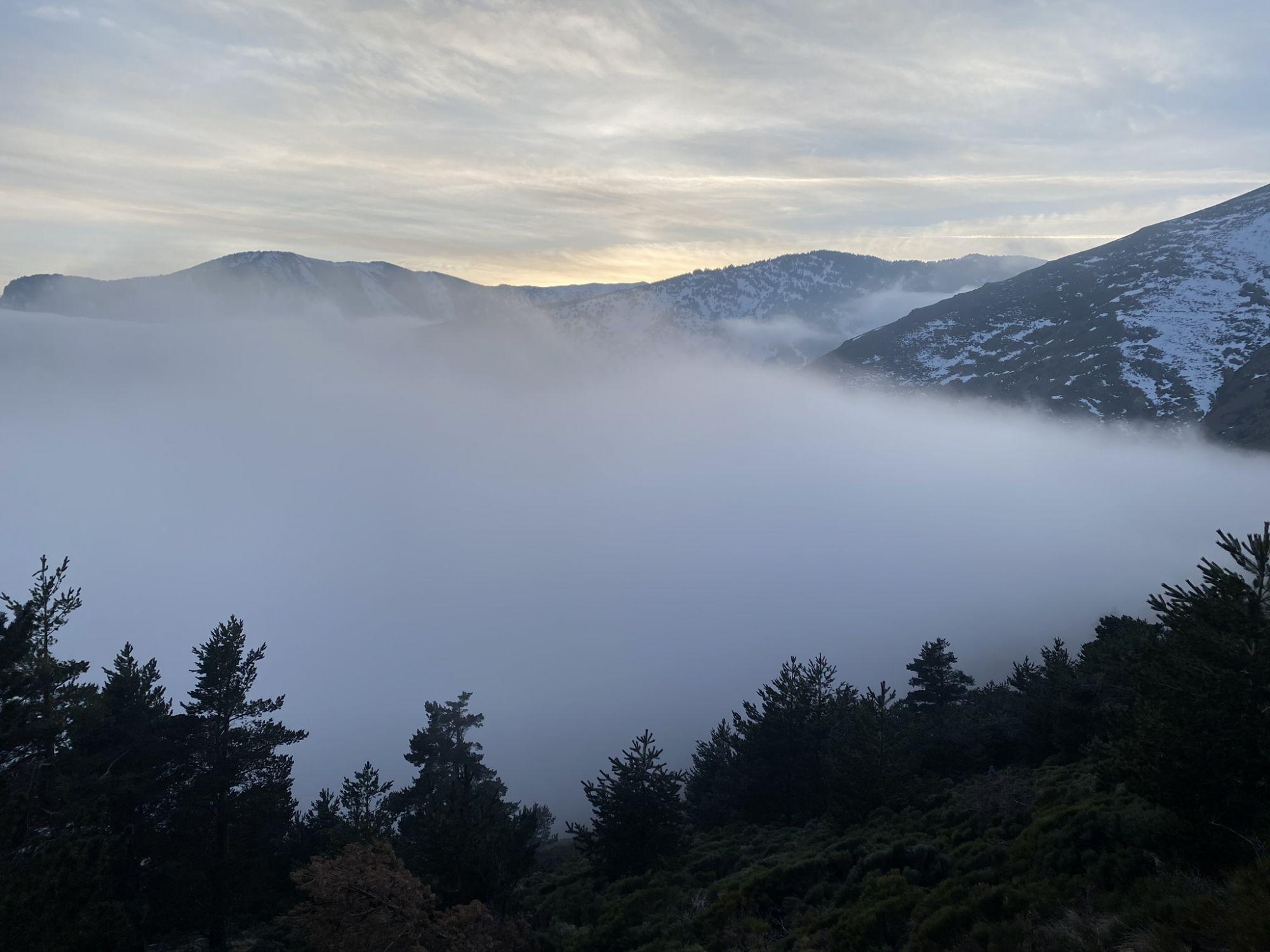 Mer de nuage Pyrénées-Orientale