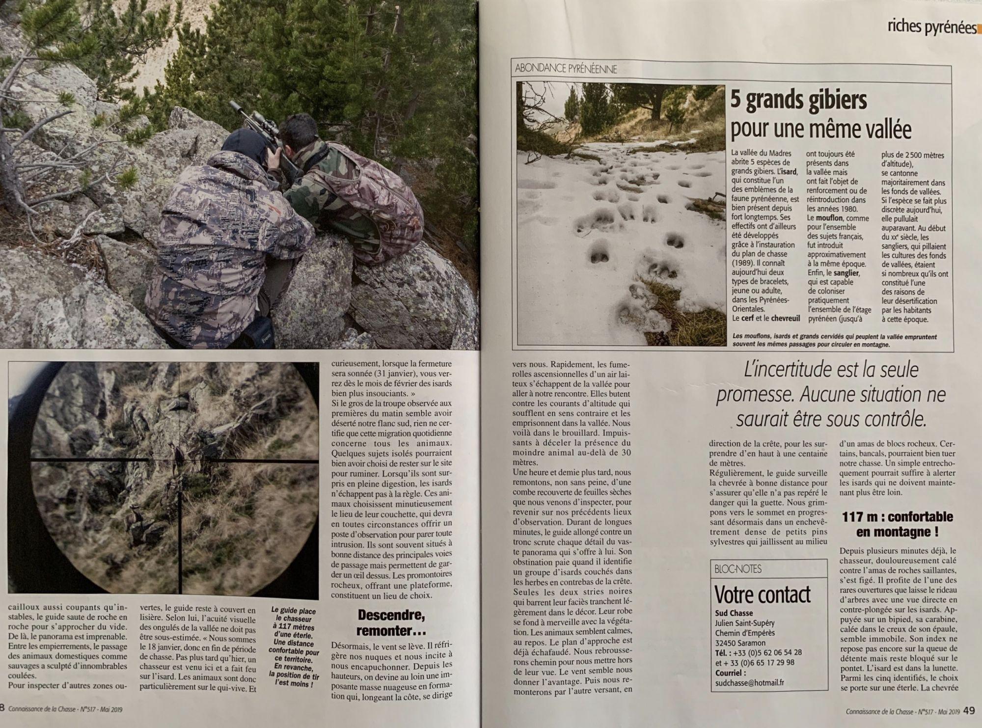 4 connaisance de la chasse mai 2019 n517